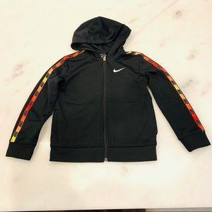 Nike Zip Up Hoodie/Jacket Black Youth 7/Large